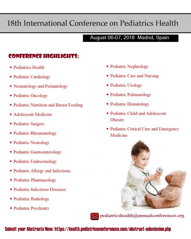 18th International Conference on Pediatrics Health - طبيبي